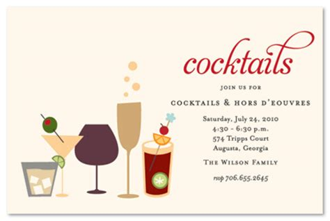 Cocktail Party Invitation Wording Invi With Christmas