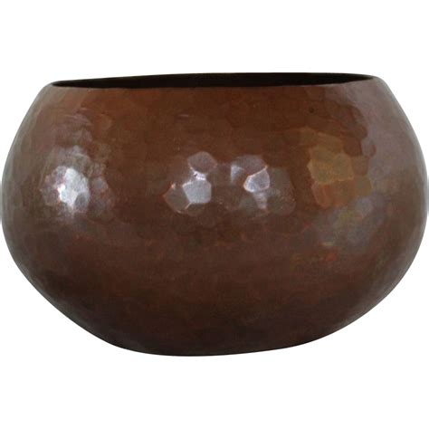 hammered copper l heavy hammered copper bowl with dovetailed joints