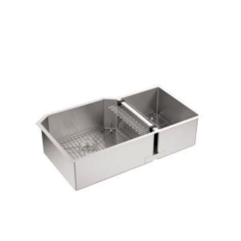 kohler strive undermount stainless steel 36 in double
