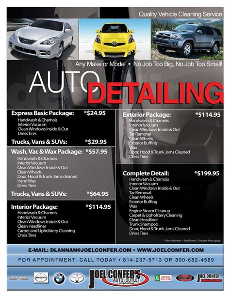 car detailing price list template car detail flyer template free search auto detail cars templates free