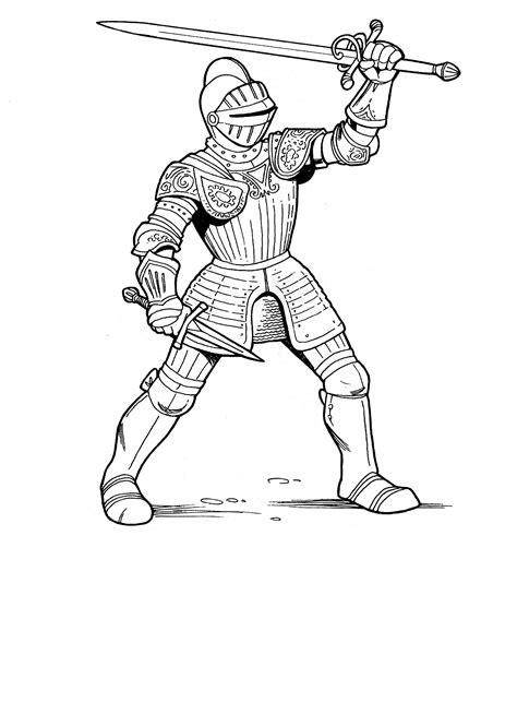 knight coloring pages    print
