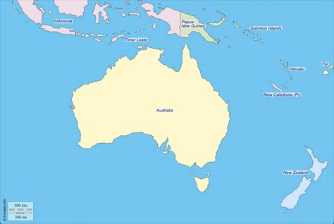 map  oceania facts information beautiful world