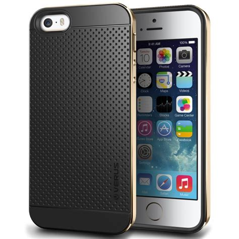 jual verus iphone se   case iron shield gold