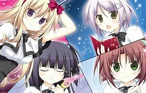 Anime, Girls, Collage, Wallpaper