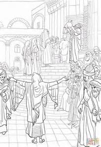 ausmalbild die darstellung des herrn im tempel