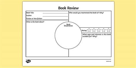 book review worksheet resource twinkl