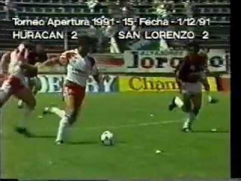 Mathematical prediction for san lorenzo vs huracan 7 march 2021. Huracán 2 San Lorenzo 2 Año 1991 - YouTube