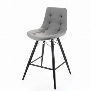 Tabouret 4 Pieds : tabouret snack design rembourr thais 4 pieds tables chaises et tabourets ~ Teatrodelosmanantiales.com Idées de Décoration