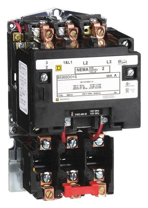 square d magnetic motor starter 120vac coil volts nema size 2 starter type nema 1h527