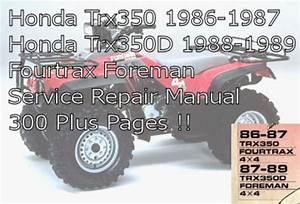 Honda Fourtrax Trx 350 Service Manual Download