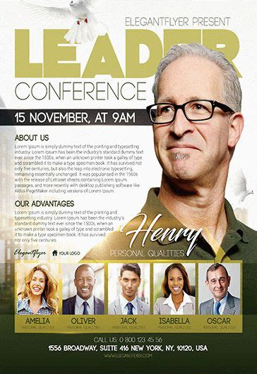 leadership conference church flyer psd template