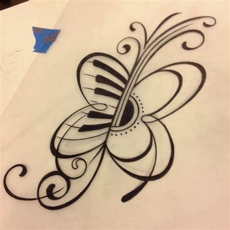 guitar  butterfly tattoos  butterfly tattoo    tattoos  tattoo