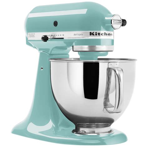 Kitchenaid Mixer Aqua Sky kitchenaid ksm150psaq aqua sky artisan series 5 qt