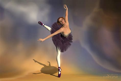 prima ballerina georgia attitude  pointe pose digital