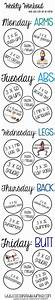 Weekly workout you can do at home Fitness Pinterest