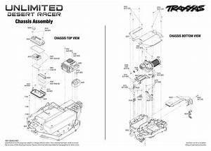Exploded View  Traxxas Unlimited Desert Racer 1 8 Tsm Rtr