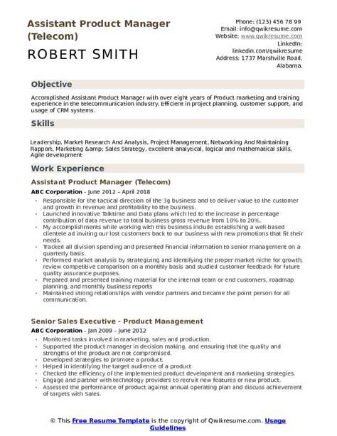 Sle Resume For Product Manager by Product Manager Resume Objective Bijeefopijburg Nl