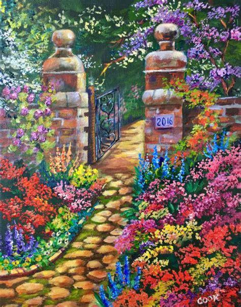 Garden Tutorial by Gate Gardens Acrylic Tutorial Tutorials In 2019