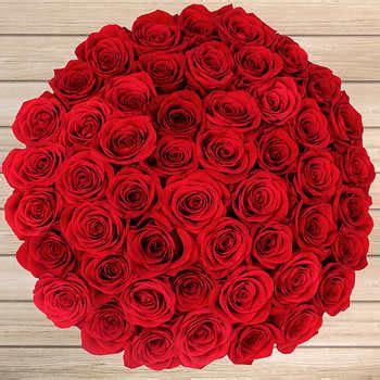 stem red roses