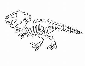 dinosaur skeleton pattern use the printable outline for With printable dinosaur skeleton template