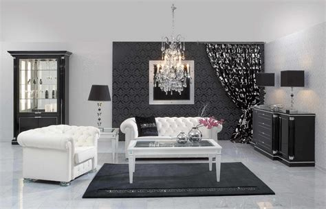 fabulous black white living room design ideas