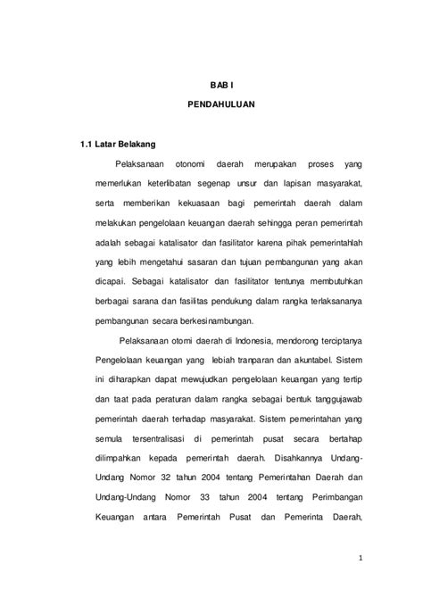 contoh proposal tesis manajemen keuangan daerah
