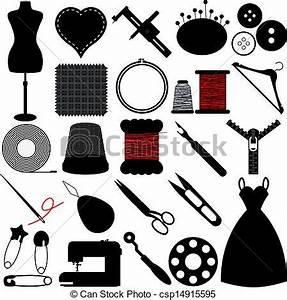 EPS Vectors of Sewing Tools and Handicraft - Vector ...
