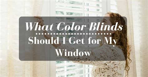 What Color Should I Get what color blinds should i get for my window