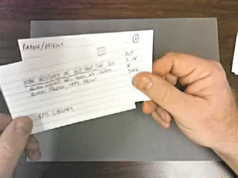 Research Bib And Note Cards Youtube