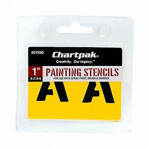 chartpak pickett painting stencils numbersletters 1 by With stencil letters home depot