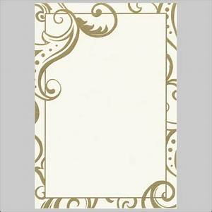 7 best images of free printable wedding borders gold With blank golden wedding invitations