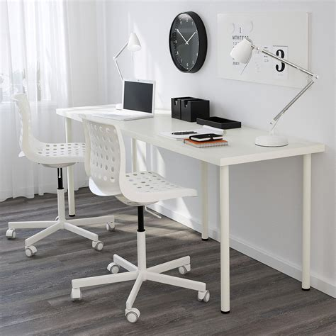 ikea linnmon corner desk dimensions clean white ikea linnmon adils desk setup with laptop on