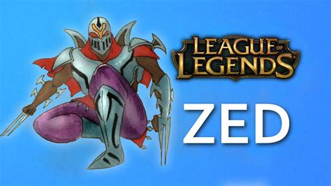 draw zed  league  legends lol facedrawer