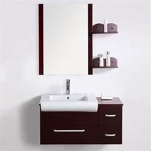 Meuble salle de bain design pas cher beaurin 90cm achat for Meuble salle de bain a suspendre pas cher