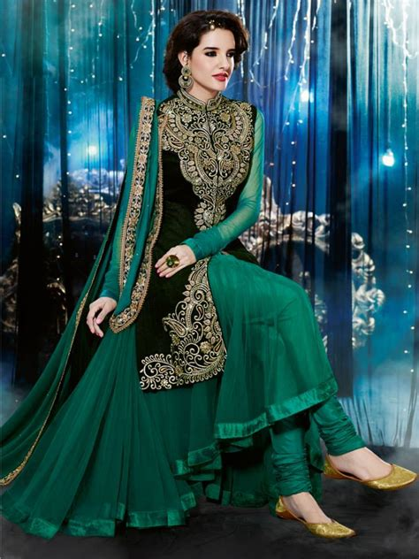 natasha couture indian party wear anarkali suits