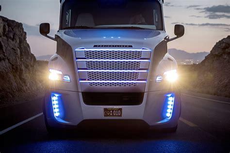 licensed autonomous freight truck hits  road