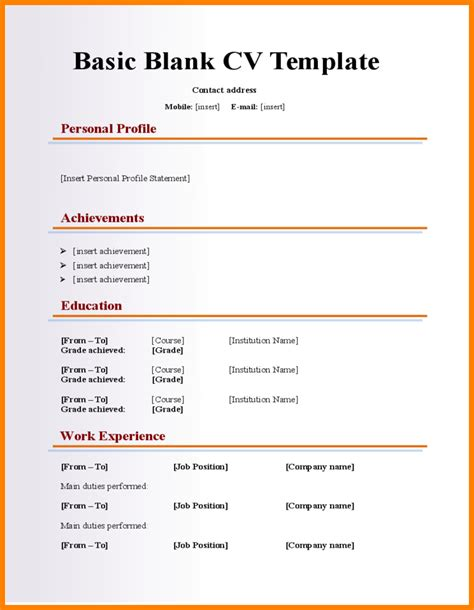 Resume Writing Templates Word by 13 Plain Resume Templates Professional Resume List