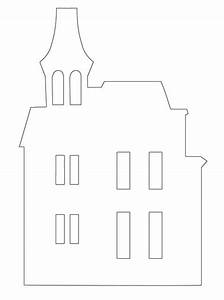 Spooky House Template | Haunted House Template Printable ...