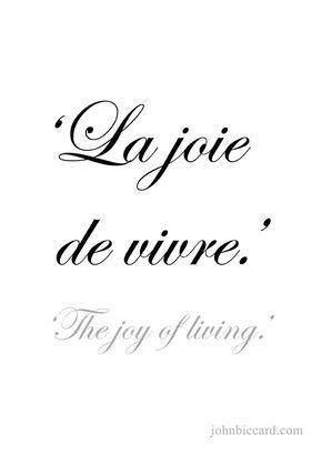 La joie de vivre | French quotes, Paris quotes, French words