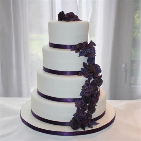 4 tier wedding cake 4 tier purple flowers wedding cake 1112