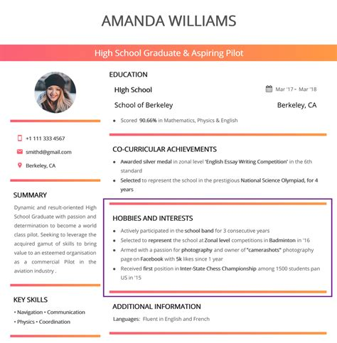 Hobby In Resume hobbies and interests for resume in 2019 150 exles