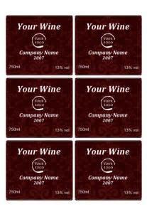 weinetiketten design wine label template personilize your own wine labels