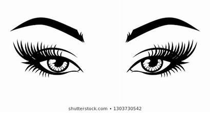 Eyelash Eyes Extension Eyelashes Makeup Ojo Vectors