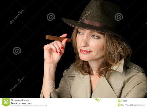 spy lady waiting stock photo image