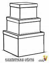 Coloring Christmas Gift Boxes Box Yescoloring sketch template