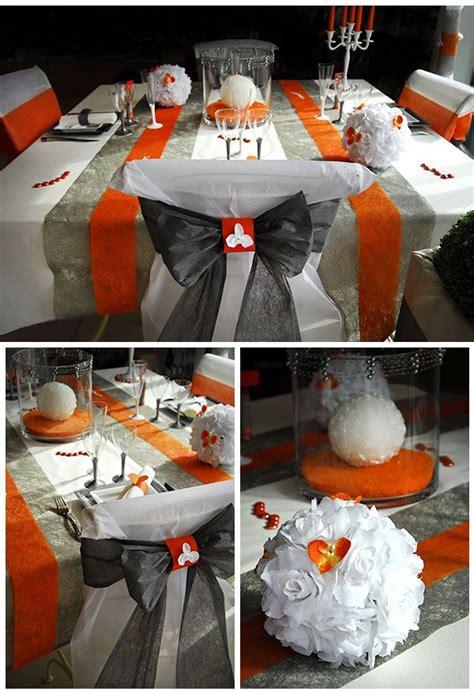 location chaise table mariage table de mariage blanche argent et orange housse de
