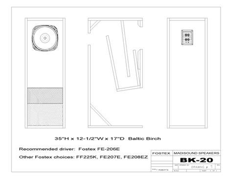 fostex bk 20 folded horn kit pair