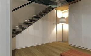 Stufenlos glucklich auch unter der treppe my wohnidee for Schrank unter treppe