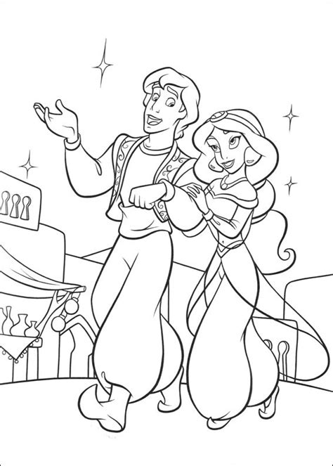 aladdin  jasmine coloring pages tops wallpapers gallery