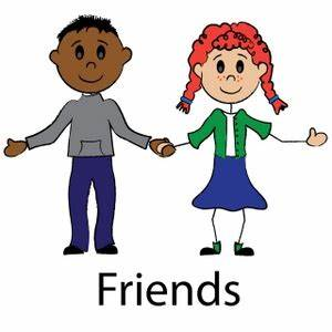 Two Friends Clipart Black And White | Clipart Panda - Free ...